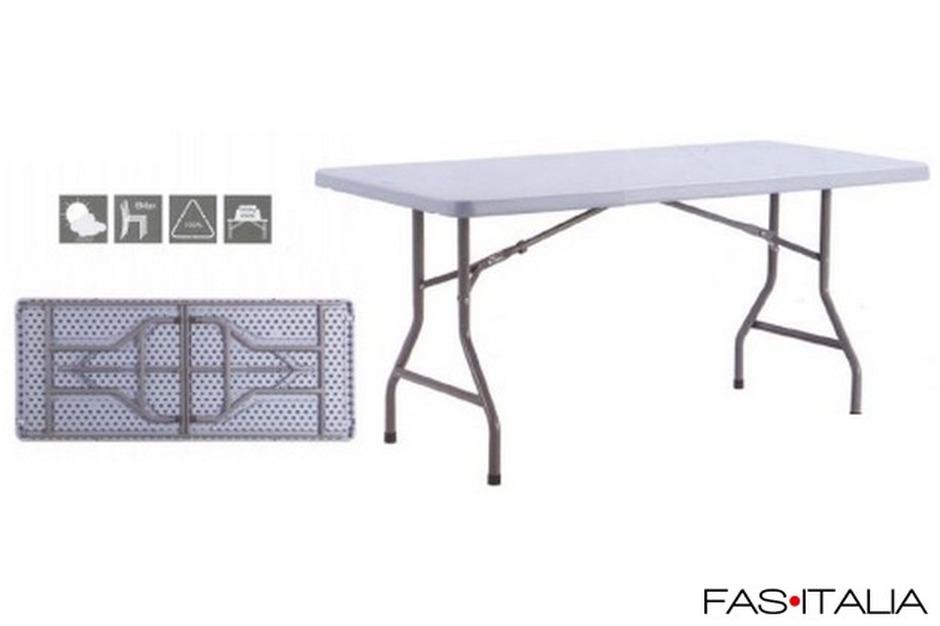 Gambe Pieghevoli Per Tavoli Vendita.Tavolo In Polietilene Gambe Pieghevoli 152x75