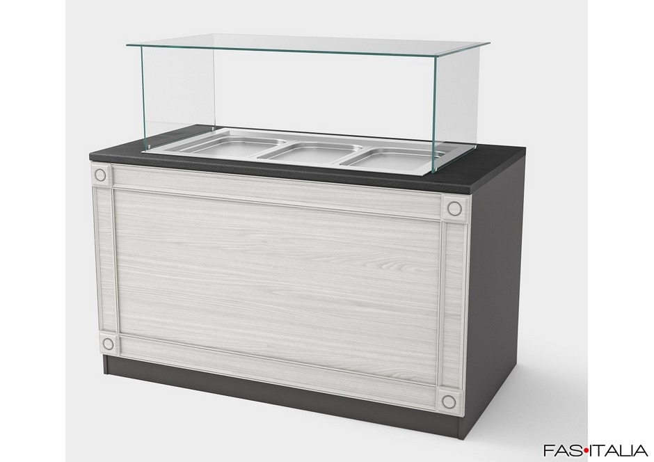 Mobile per buffet 150 cm Top con banco caldo